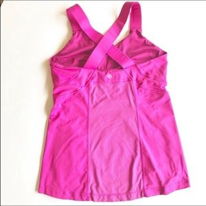 Lululemon Hot Pink Tank With Criss-Cross Back 10